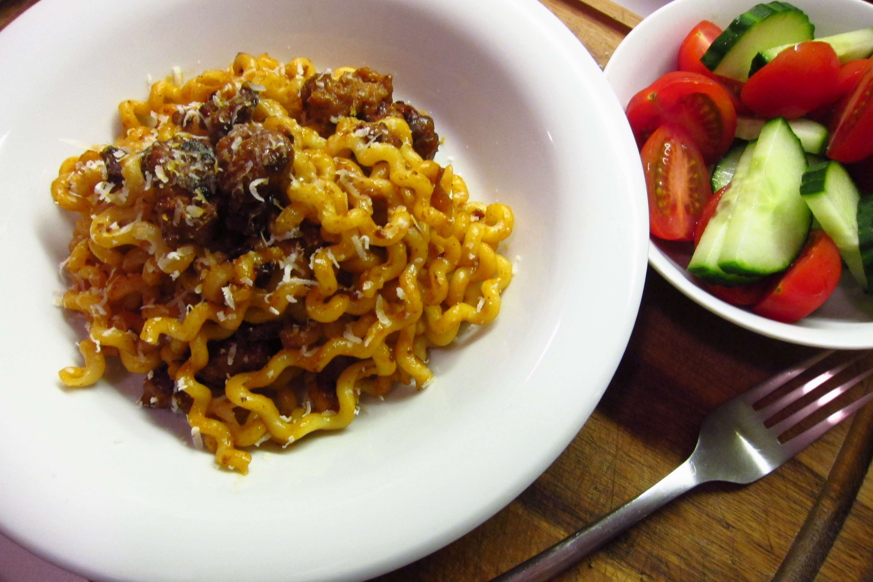 28.Blog_Eataly inspired long fusilli with Italian sausages