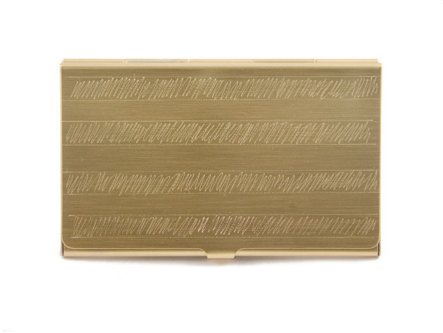 Nyc cool shop find in god we trust melting butter melting butter hand engraved business card case from nyc cool shop find in god we trust reheart Image collections