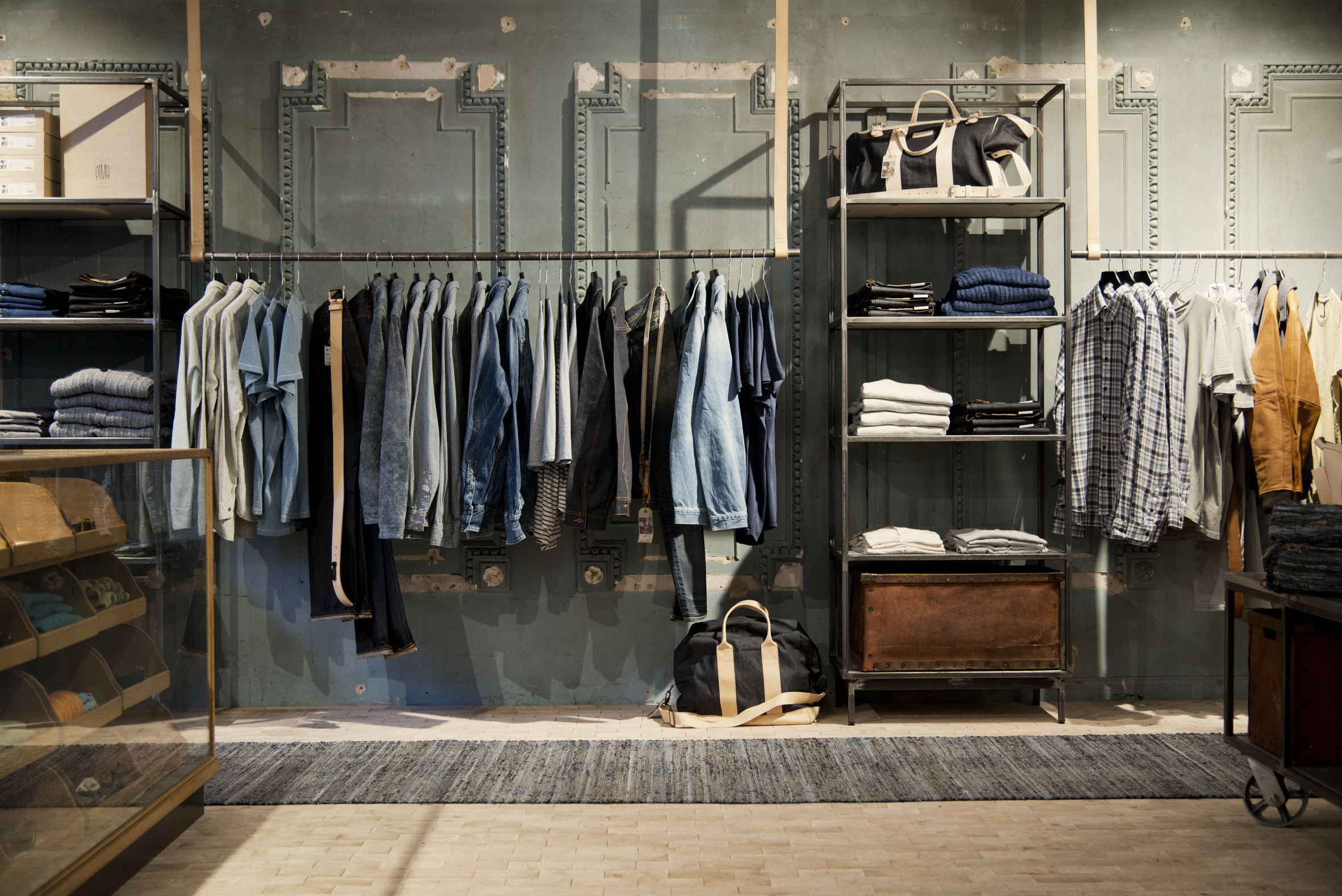 London cool shop find nudie jeans repair shop melting - Interior design for retail stores ...