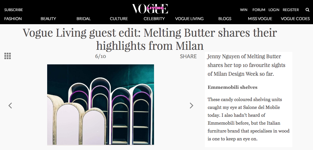 Melting Butter in Vogue Living