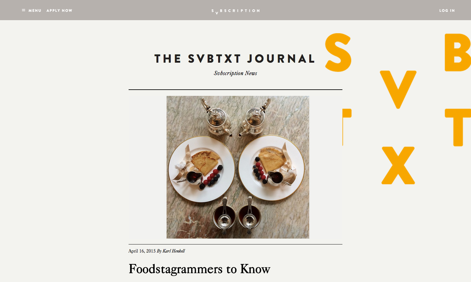 April 2015_Svbtxt Journal_Melting Butter