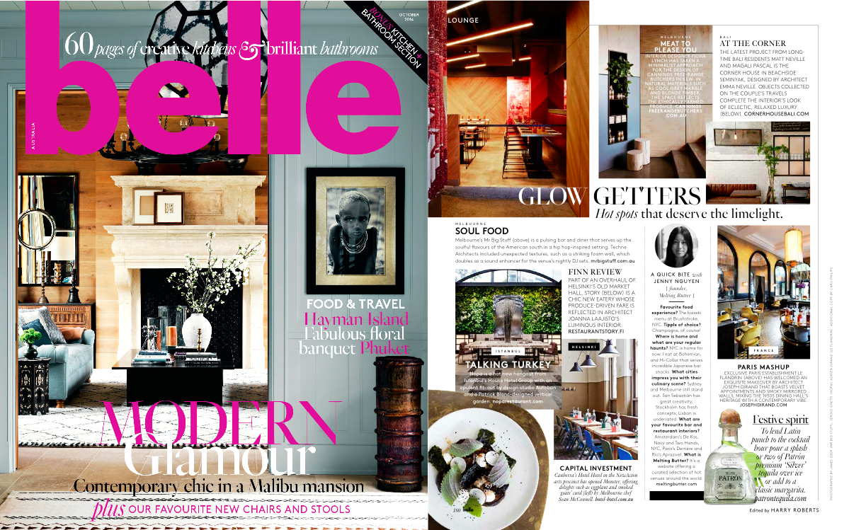 Melting Butter Press | October 14 Belle Magazine