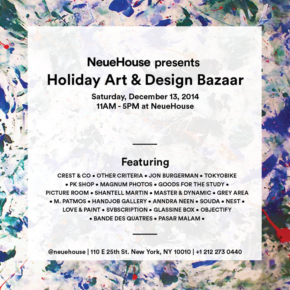 NYC Pop Up Shop Guide | meltingbutter.com Shopping Hotspots_Neuehouse Art Design Bazaaer